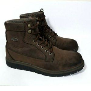 Lugz MBEDROHD-241 Men Brown High Top Lace Up Boots
